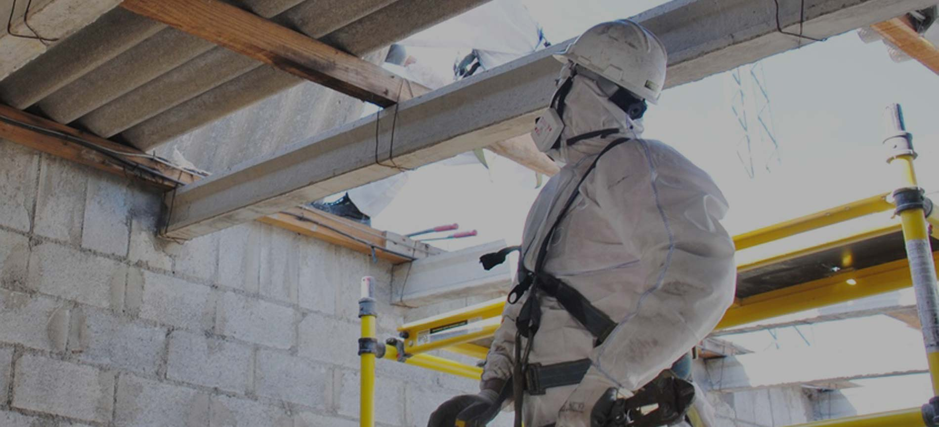 asbestos surveyor carrying out an inspection